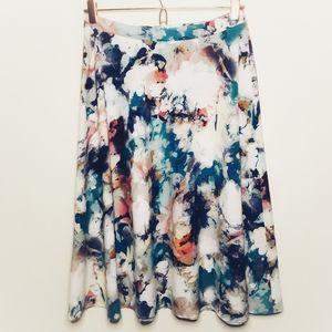 Cato Midi Watercolor Skirt